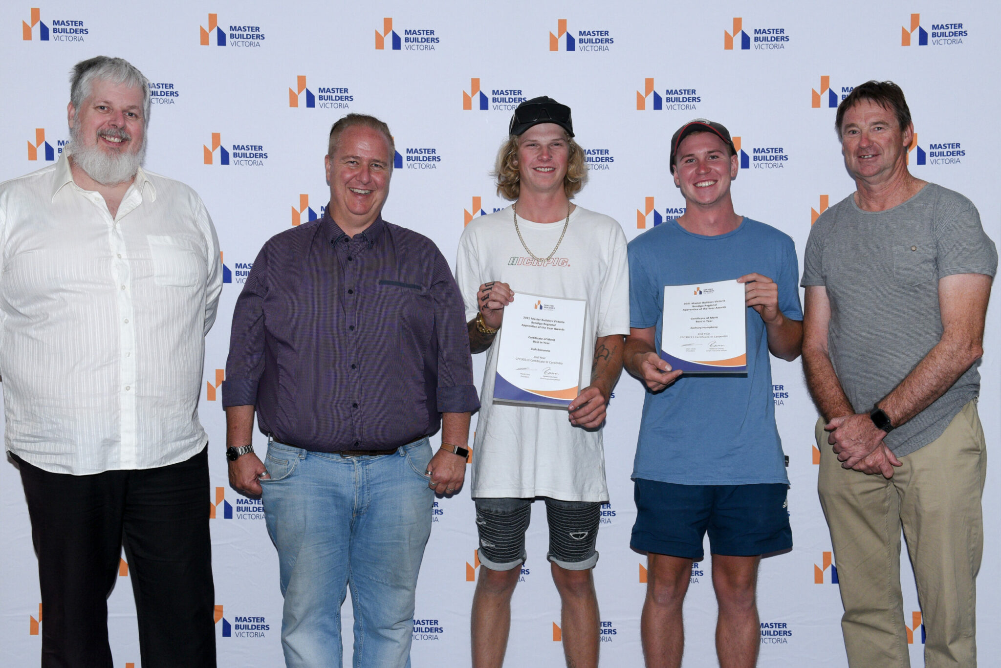 Lansell team at the Master Builders Victoria Apprentice of the Year awards Bendigo